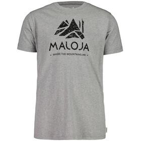 Maloja GrassitschM. Koszulka Mężczyźni, grey melange